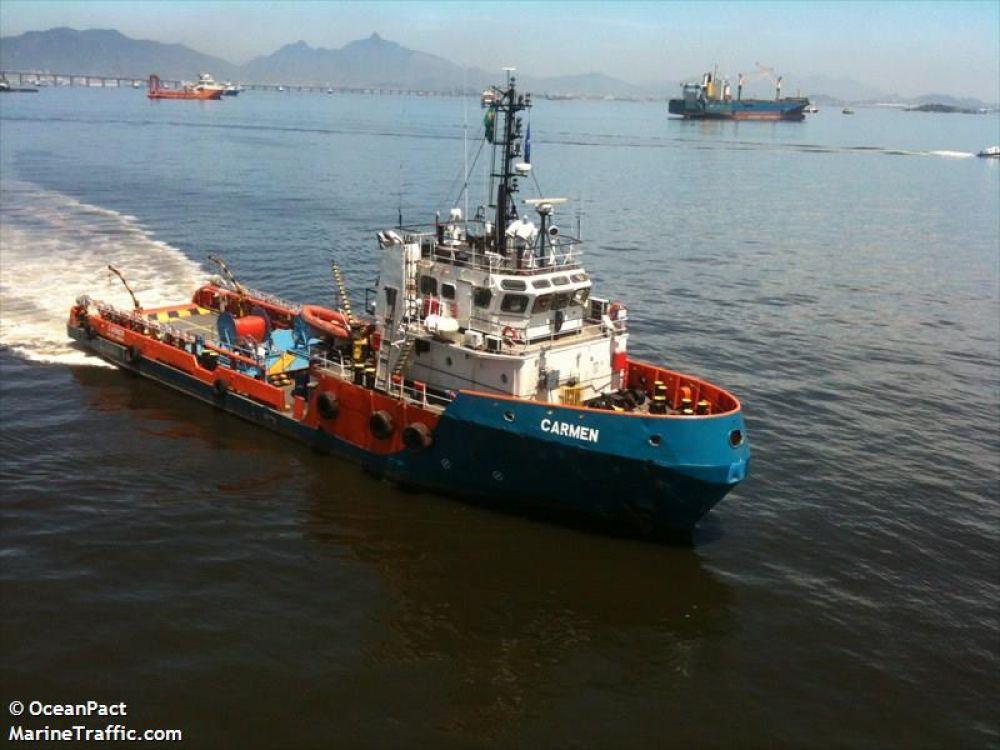 Embarcação Carmem, da Oceanpact.