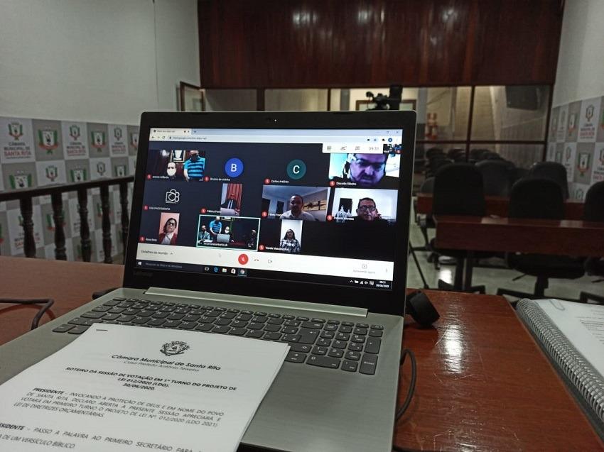 Vereadores de Santa Rita aprovam por unanimidade e de forma remota em 1º turno a LDO 2021