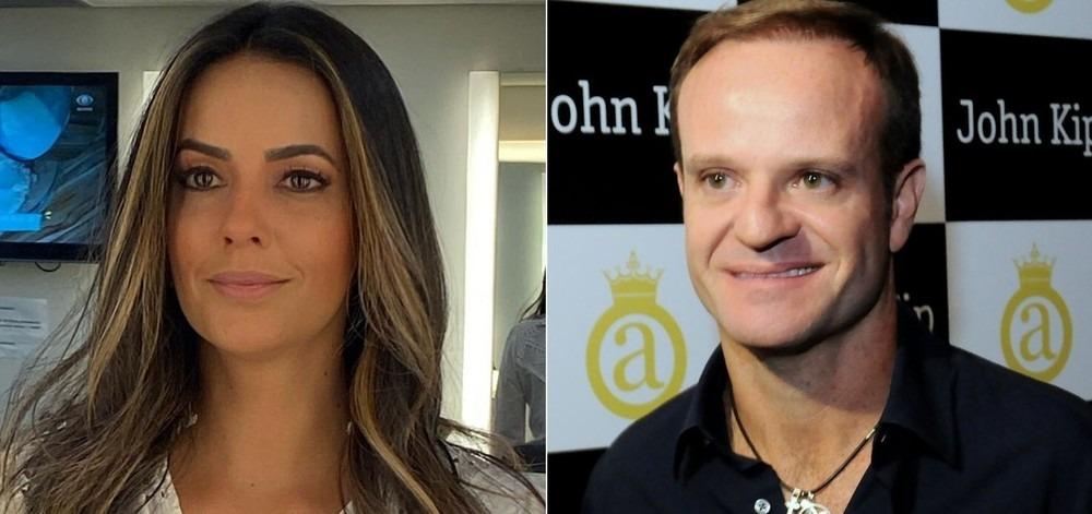 Apresentadora da Band e Rubens Barrichello estão namorando