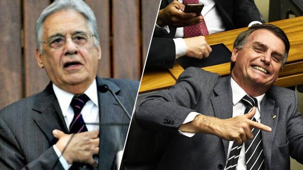 FHC orienta Bolsonaro a ficar quieto ou pensar nas consequências do que fala