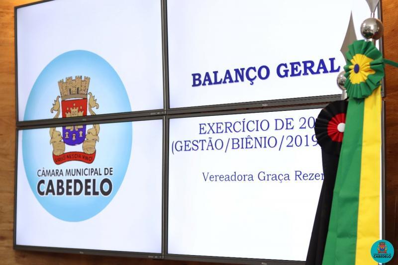 SESSÃO ESPECIAL DE APRESENTAÇÃO DOS BALANCETES 2019 PRESIDENTE GRAÇA REZENDE